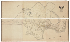 Map of the Town of Boston 1676; Drawn by Samuel C. Clough in Accordance with Information Compiled from the Records ...
