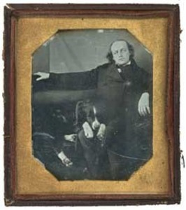 Benjamin F. Butler with a dog