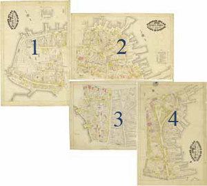Clough's Atlas 1798 Property Owners of the Town of Boston, plates depicting the North End area