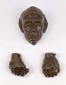 Life mask and hands of Abraham Lincoln