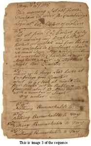Nathaniel Ober diary, 15 May - 3 September 1775, with accounts and notes, 1776-1781