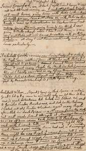"Notes on the Boston Massacre trials, by John Adams, 1770, ""Prisoners Witnesses. James Crawford..."""