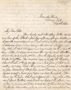Letter from Frank Lee to Rose Lee Saltonstall, 18 February 1862