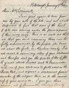 Letter from Malcolm Hay to Leverett Saltonstall, 9 January 1877