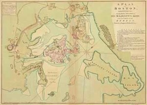 A Plan of Boston, and its Environs shewing the true Situation of His Majesty's Army