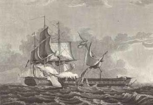 Capture of the British Frigate Gurriere [sic] by the U.S. Frigate Constitution