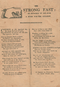 The Strong Fast, or, Hypocrisy in the Suds: a Hymn for the Occasion