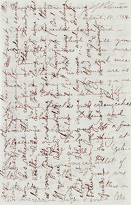Letter from Theodore Lyman to Elizabeth Lyman, 18 April 1864
