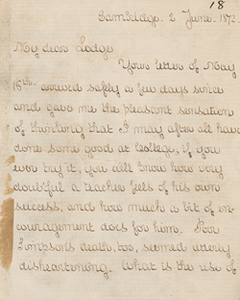Letter from Henry Adams to Henry Cabot Lodge, 2 June 1872