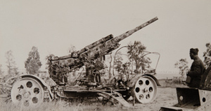 A large piece of German field artillery