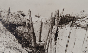 Close-up of a concrete trench
