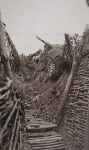 Ground-level view of a camouflaged trench, Douaumont