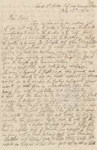 Letter from George A. Thayer to Lorin Low Dame, 17 July 1864