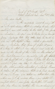 Letter from Charles Francis Adams, Jr. to Abigail Brooks Adams, 8 January 1865