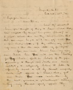 Letter from E. B. [a Quaker] to John Brown and his reply