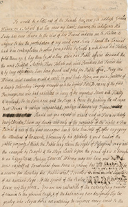 Letter from Hannah Winthrop to Mercy Otis Warren, circa August 1776