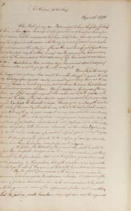 "Letter from Mercy Otis Warren to Hannah Winthrop (letterbook copy), [after 1 January 1774], ""When I took up my pen, I determined to leave..."""