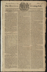 The Boston Evening-Post, 11 February 1765