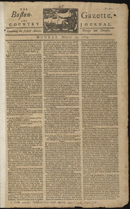 The Boston-Gazette, and Country Journal, 25 March 1765