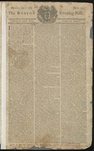 The Boston Evening-Post, 1 July 1765