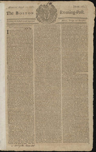 The Boston Evening-Post, 10 August 1767