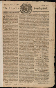 The Boston Evening-Post, 10 October 1768