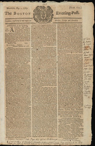 The Boston Evening-Post, 1 May 1769