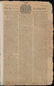 The Boston Evening-Post, 10 July 1769