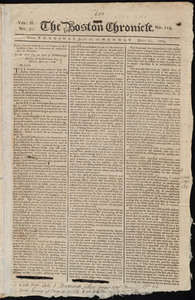 The Boston Chronicle, 27 - 31 July 1769