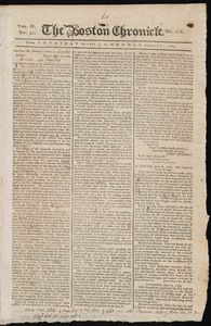 The Boston Chronicle, 3 - 7 August 1769