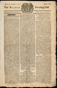 The Boston Evening-Post, 1 January 1770