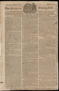 The Boston Evening-Post, 10 October 1774