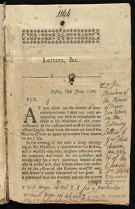 Copy of letters sent to Great Britain
