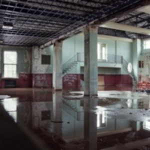 Flooded cafeteria