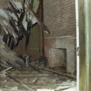 Fireplace with Wreckage