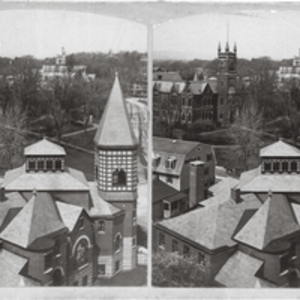 Baptist Church and Assembly Hall rooftops