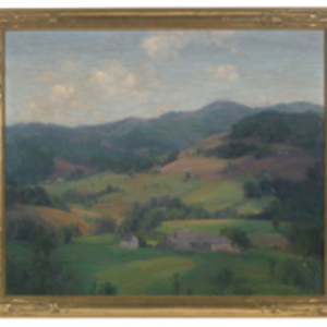 Landscape, Plymouth, Vermont (hills looking westward from Coolidge homestead)