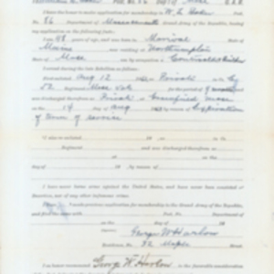 George Harlow Application