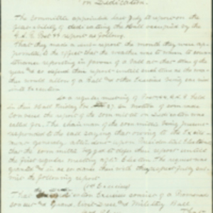 G. A. R. Report of the Committee on Dedication 1868