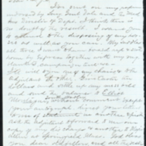 Letter from G. L. Montague, February 21, 1865