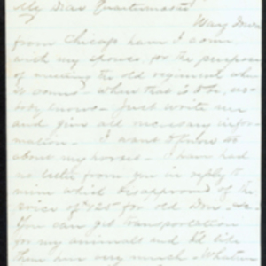 Letter from G. L. Montague, June 20, 1865