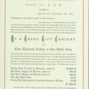 G. A. R. Post 101 Grand Gift Concert 1870