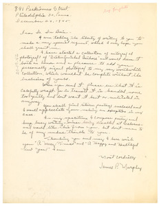 Letter from James P. Murphy to W. E. B. Du Bois