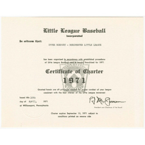 Certificate of Charter