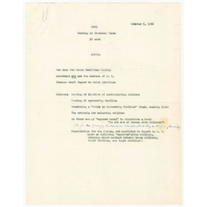 Agenda for N.E.F.C. meeting at Sheraton Plaza on October 5, 1966