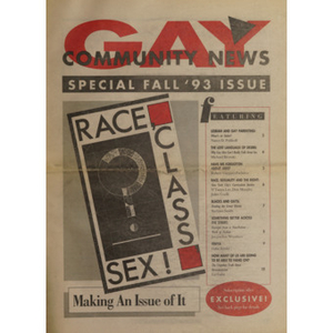 Gay community news. Special Issue