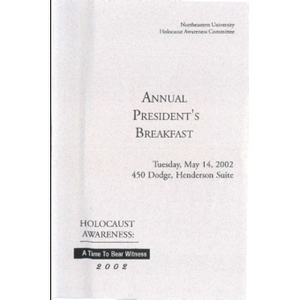 Annual President's Breakfast program, 2002.