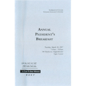 Annual President's Breakfast program, 2007.