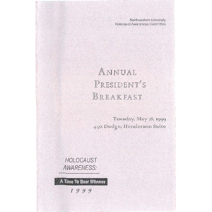 Annual President's Breakfast program, 1999.