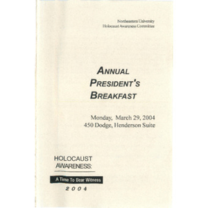 Annual President's Breakfast program, 2004.